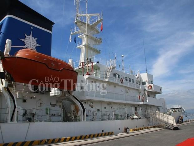 Le navire-ecole Kojima de la Garde cotiere du Japon jette l'ancre a Da Nang hinh anh 1