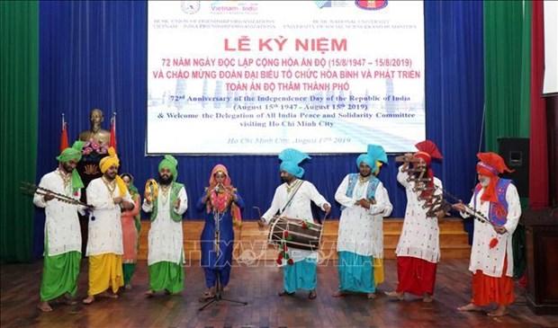 Resserrer l'amitie et la solidarite entre Ho Chi Minh-Ville et l'Inde hinh anh 1