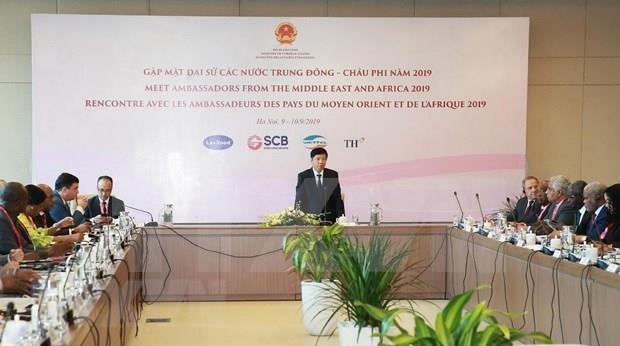 Conference « Rencontre avec les ambassadeurs des pays du Moyen-Orient et d'Afrique 2019 » a Hanoi hinh anh 1