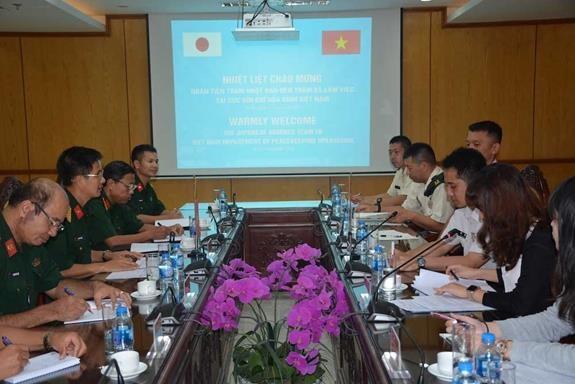 Vietnam-Japon : entrainement a la manœuvre des equipements poids lourd du genie hinh anh 1