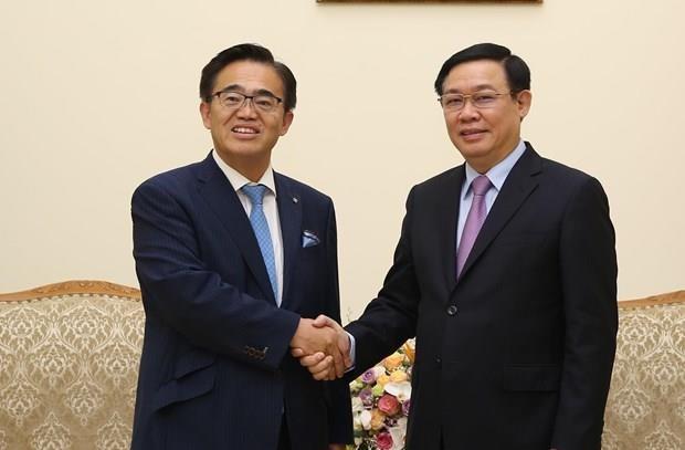 Le vice-PM Vuong Dinh Hue recoit le gouverneur de la prefecture japonaise d'Aichi hinh anh 1