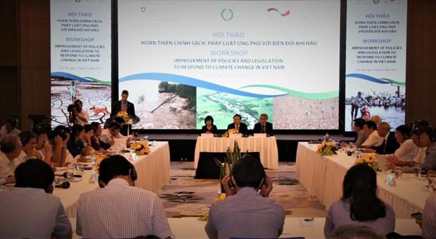 Perfectionnement des politiques sur la resilience au changement climatique hinh anh 1