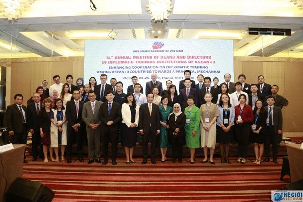 La 14e Conference des directeurs et recteurs des ecoles de formation en diplomatie ASEAN+3 hinh anh 1