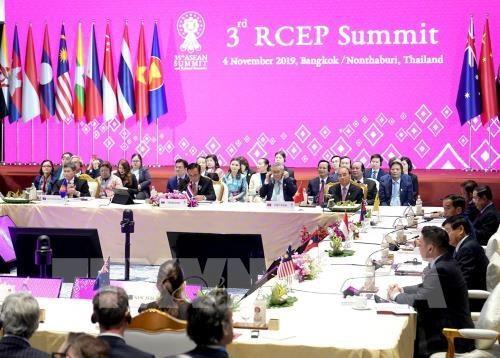 35e Sommet de l'ASEAN : des pays reportent la date de signature du RCEP hinh anh 1