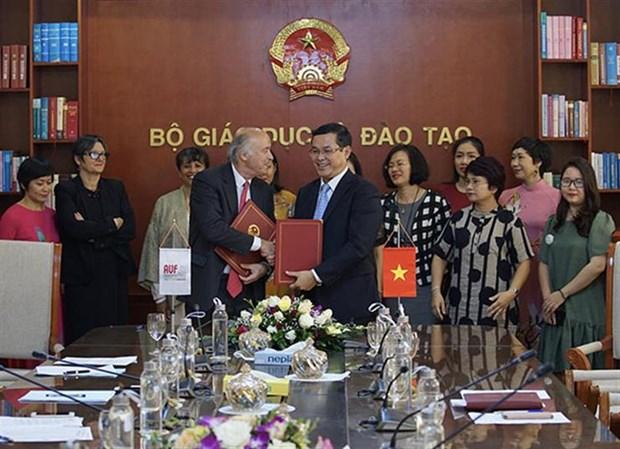 Le ministere de l'Education et de la Formation signe un accord-cadre de cooperation avec l'AUF hinh anh 1