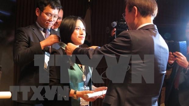 La premiere citoyenne vietnamienne reconnue citoyen d'honneur de Seoul hinh anh 1