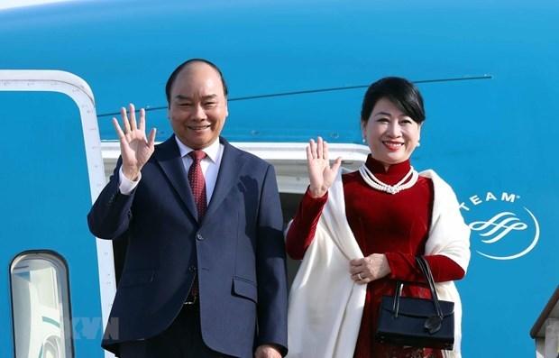 Le Premier ministre Nguyen Xuan Phuc entame sa visite officielle en Republique de Coree hinh anh 1