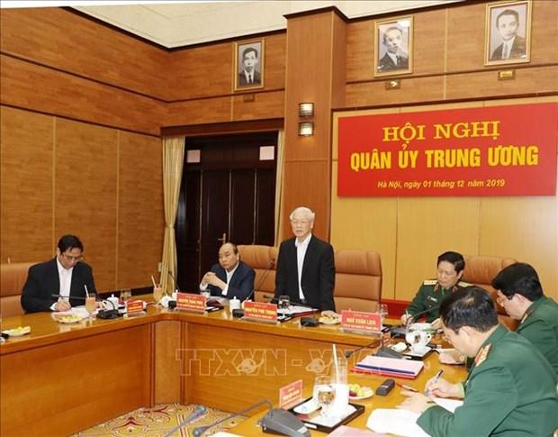 La Commission militaire centrale fait le bilan des activites militaires et de defense de 2019 hinh anh 1