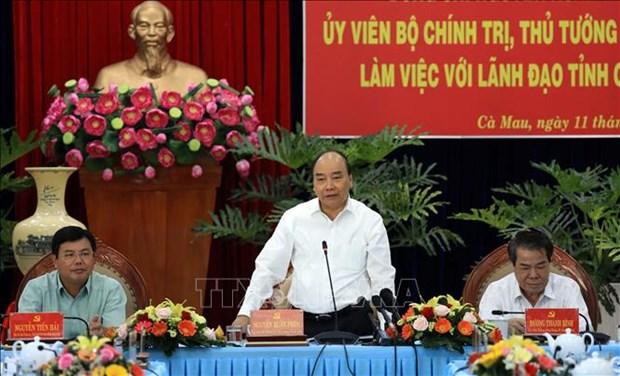 Le Premier ministre Nguyen Xuan Phuc en tournee de travail a Ca Mau hinh anh 1