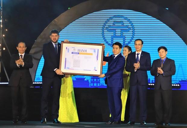 Hanoi devient membre du Reseau des villes creatives de l'UNESCO hinh anh 1