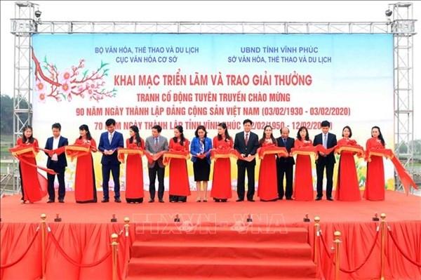 Vinh Phuc : exposition d'affiches pour celebrer les 90 ans du Parti communiste vietnamien hinh anh 1