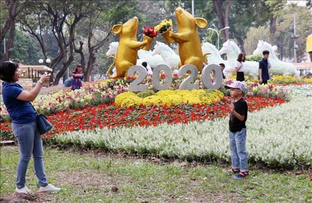 L'ouverture de la fete des fleurs printanieres de Ho Chi Minh-Ville hinh anh 1