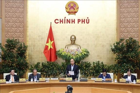 La premiere reunion periodique du gouvernement en 2020 hinh anh 1