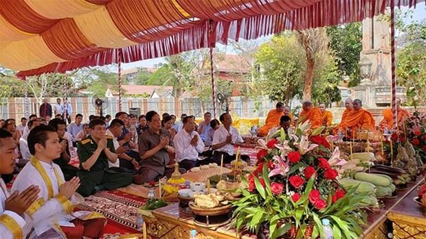 Mise en chantier du monument de l'amitie Vietnam-Cambodge dans la province de Kampong Speu hinh anh 1