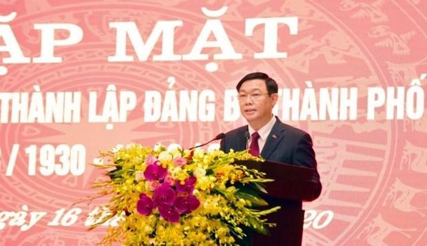 L'organisation du Parti de la ville de Hanoi souffle ses 90 bougies hinh anh 1