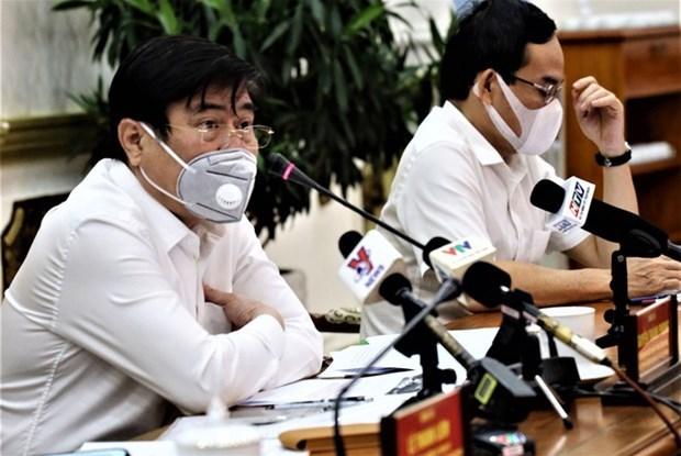 Ho Chi Minh-Ville fait des efforts pour contenir la propagation du COVID-19 hinh anh 1