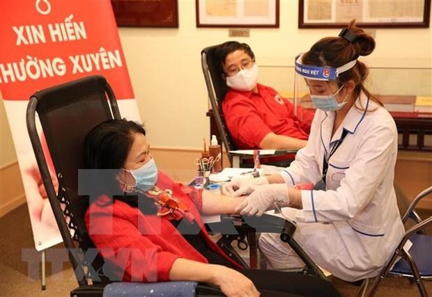 Ninh Binh collecte des milliers d'unites sanguines dans le contexte de la pandemie de COVID-19 hinh anh 1