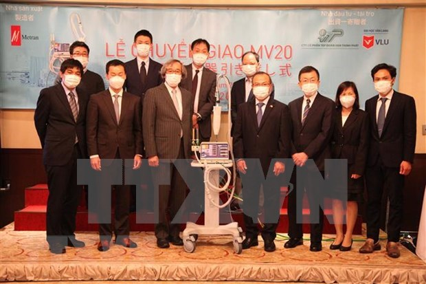 Coronavirus: les deux premiers respirateurs de la SARL Metran (Japon) livres au Vietnam hinh anh 1