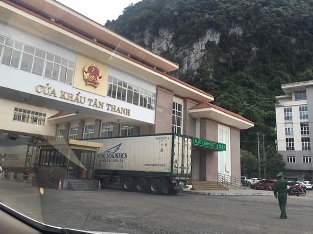 Le dedouanement reprend a la porte-frontaliere Tan Thanh - Po Chai hinh anh 1