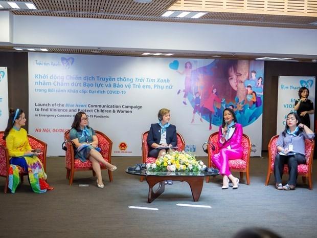 Lancement d'une campagne pour mettre fin a la violence vis-a-vis des enfants et des femmes hinh anh 1