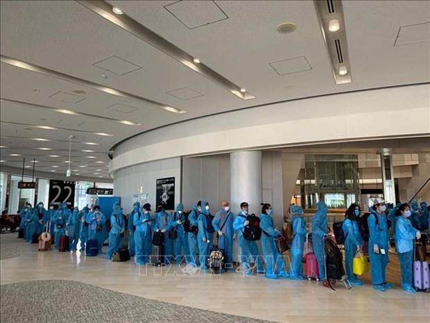 COVID-19: Rapatrier 342 citoyens vietnamiens depuis le Japon hinh anh 1