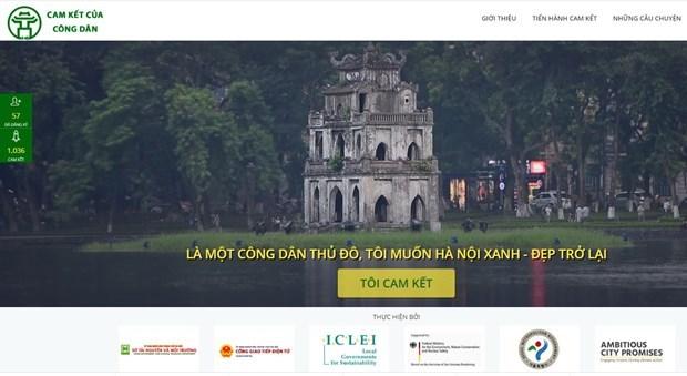 Un site web sur des engagements des citoyens hanoiens pour la capitale hinh anh 1
