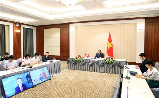 Une visioconference sur les relations vietnamo-americaines hinh anh 1