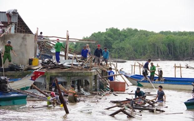 Kien Giang : des centaines de maisons endomagees a causes de pluies torrentielles hinh anh 1
