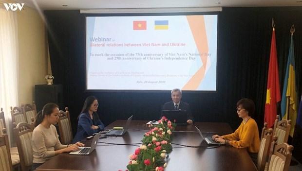 Une visioconference sur les relations Ukraine-Vietnam hinh anh 1