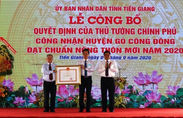 Premier district repondant aux normes de la Nouvelle Ruralite a Tien Giang hinh anh 1