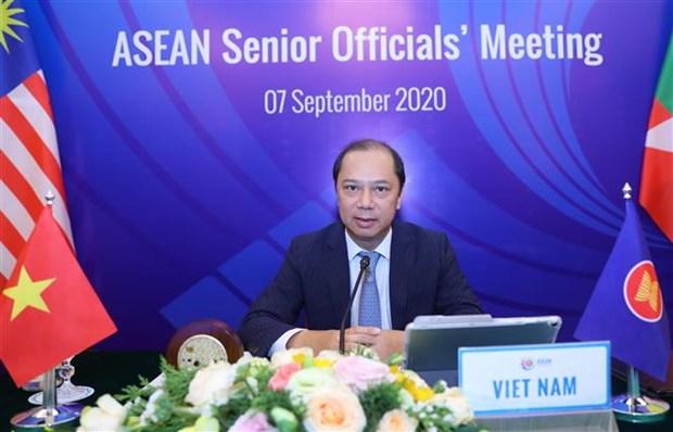 Reunions des hauts fonctionnaires de l'ASEAN pour preparer l'AMM-53 hinh anh 1