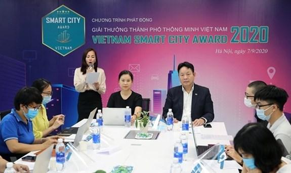 Lancement du prix « Ville intelligente du Vietnam 2020 » hinh anh 1
