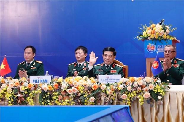 La 17e conference par visioconference des chefs des forces de defense de l'ASEAN hinh anh 1