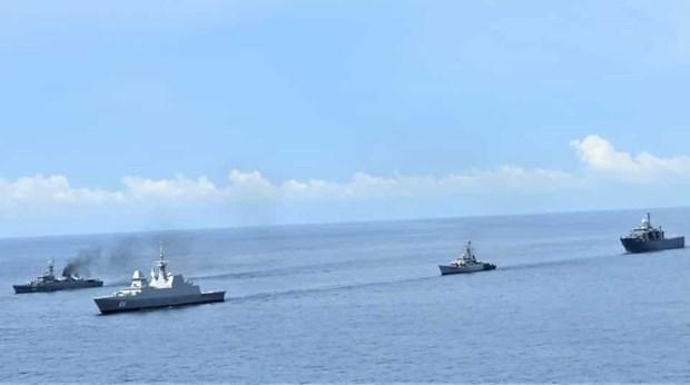 L'Inde, Singapour et la Thailande menent un exercice naval trilateral conjoint hinh anh 1