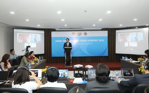 Visioconference des jeunes scientifiques de l'ASEAN hinh anh 1