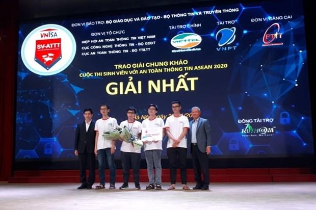 Le Vietnam remporte le concours des etudiants de l'ASEAN sur la securite de l'information 2020 hinh anh 1