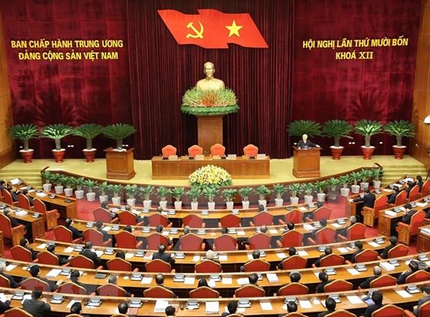 Cloture du 14e Plenum du Comite central du Parti hinh anh 1