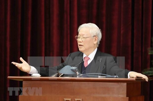 Cloture du 14e Plenum du Comite central du Parti hinh anh 2