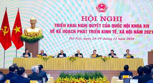 Ouverture de la visio-conference entre le gouvernement et les localites hinh anh 2