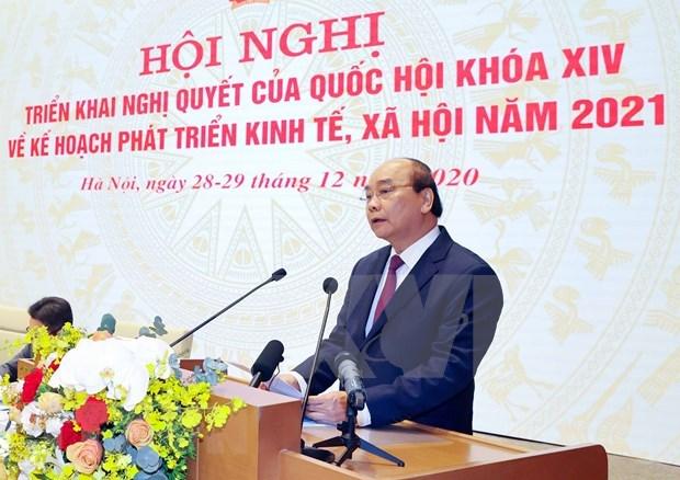 Ouverture de la visio-conference entre le gouvernement et les localites hinh anh 1