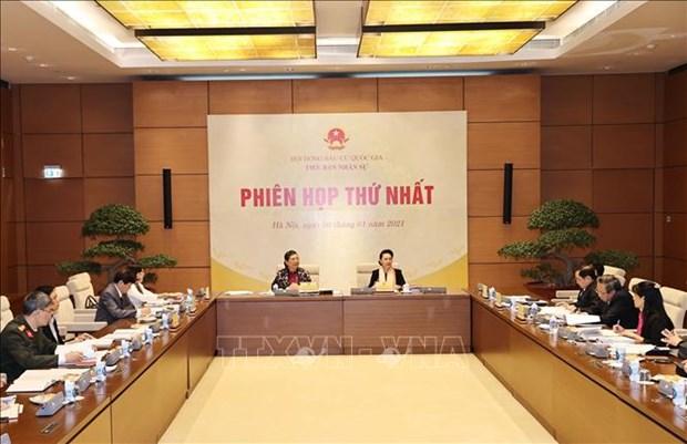 Premiere reunion du sous-comite du personnel du Comite national des elections hinh anh 1