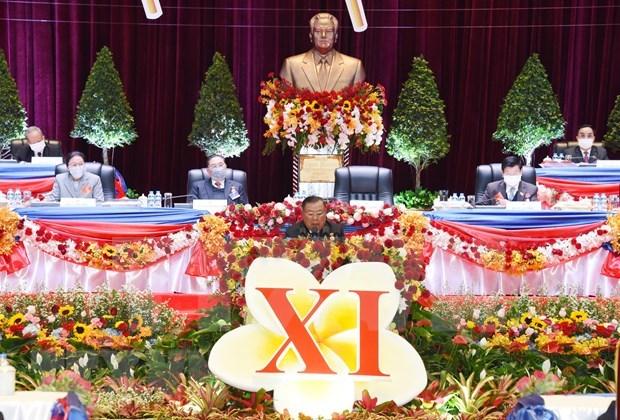 Ouverture du 11e Congres national du Parti populaire revolutionnaire du Laos hinh anh 1