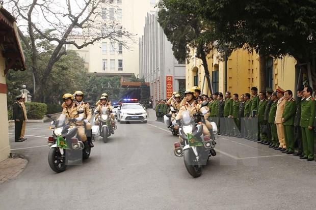 La police de Hanoi met en œuvre des plans pour assurer la securite du congres du Parti hinh anh 1