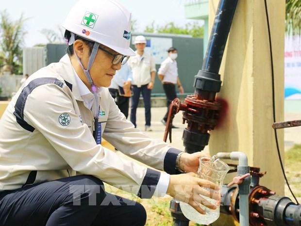 Re-exploitation de deux dessalinisateurs sur l'ile de Ly Son hinh anh 1