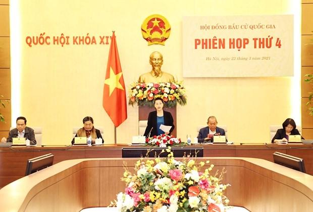 La presidente de l'AN preside la 4e session du Conseil electoral national hinh anh 1