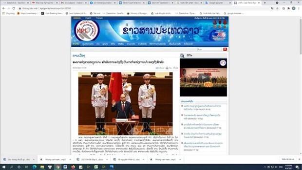 La presse laotienne rapporte l'election des principaux dirigeants vietnamiens hinh anh 1