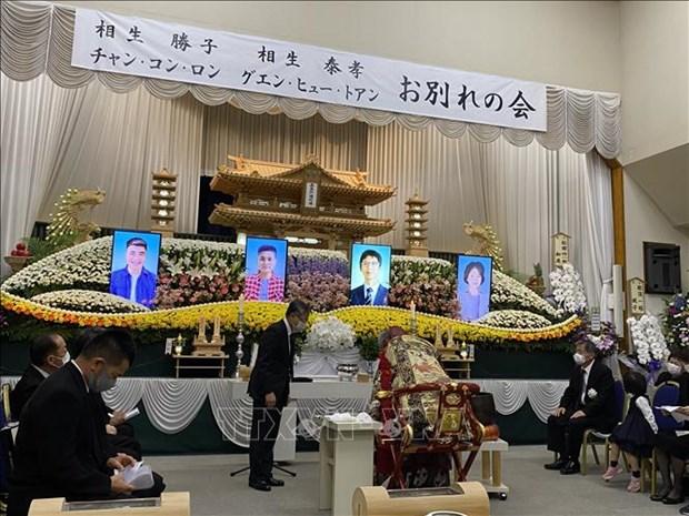 Funerailles solennelles pour deux stagiaires vietnamiens decedes a Shiiba hinh anh 1