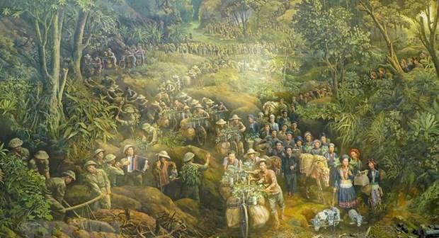 Achever un tableau panoramique pour faire revivre la bataille de Dien Bien Phu hinh anh 1