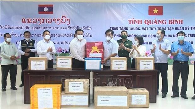 La province vietnamienne de Quang Binh aide celle lao de Khammouane a proteger le betail hinh anh 1