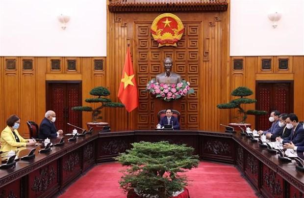 Le Premier ministre Pham Minh Chinh recoit l'ambassadeur de Cuba hinh anh 1